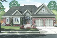 European Exterior - Front Elevation Plan #46-851
