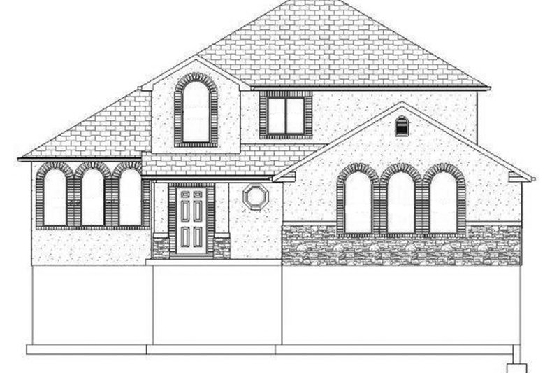 Traditional Exterior - Front Elevation Plan #1060-19 - Houseplans.com
