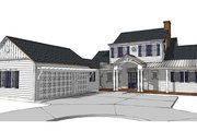 Country Style House Plan - 4 Beds 4.5 Baths 3708 Sq/Ft Plan #1058-80 Exterior - Front Elevation