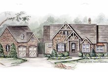 House Design - European Exterior - Front Elevation Plan #54-263