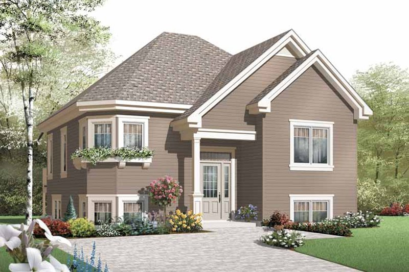 Dream House Plan - European Exterior - Front Elevation Plan #23-2387
