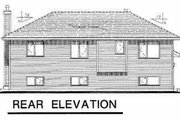 Traditional Style House Plan - 3 Beds 2 Baths 1089 Sq/Ft Plan #18-304 Exterior - Rear Elevation