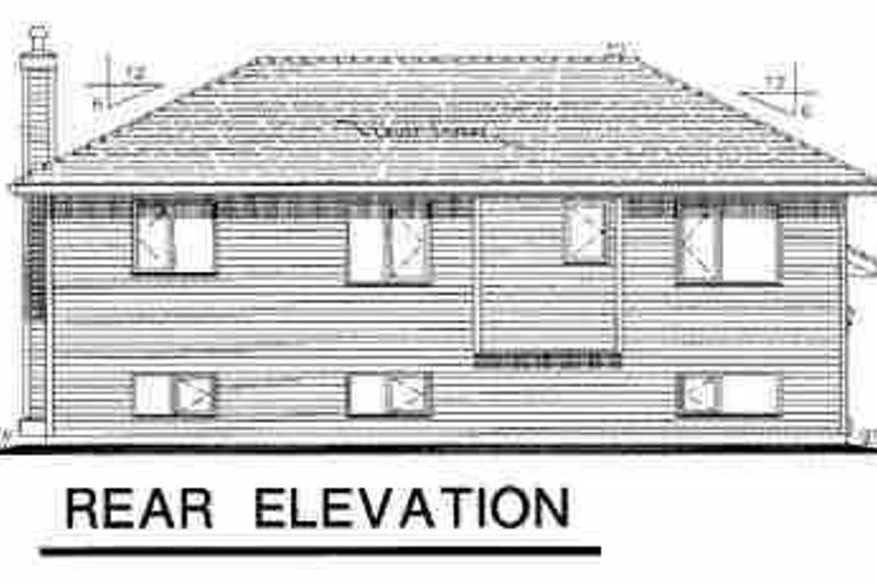 Traditional Exterior - Rear Elevation Plan #18-304 - Houseplans.com