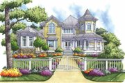 Victorian Style House Plan - 4 Beds 3.5 Baths 3096 Sq/Ft Plan #930-165 Exterior - Front Elevation