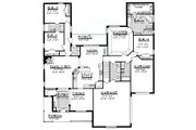 Traditional Style House Plan - 5 Beds 3.5 Baths 3534 Sq/Ft Plan #62-147 Floor Plan - Main Floor Plan