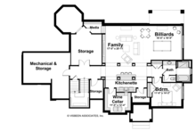 Craftsman Floor Plan - Lower Floor Plan Plan #928-184