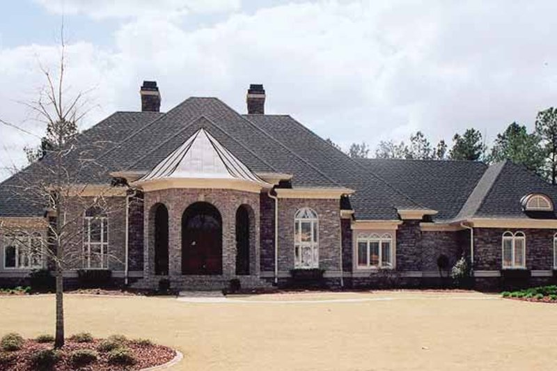 Country Exterior - Front Elevation Plan #119-398 - Houseplans.com