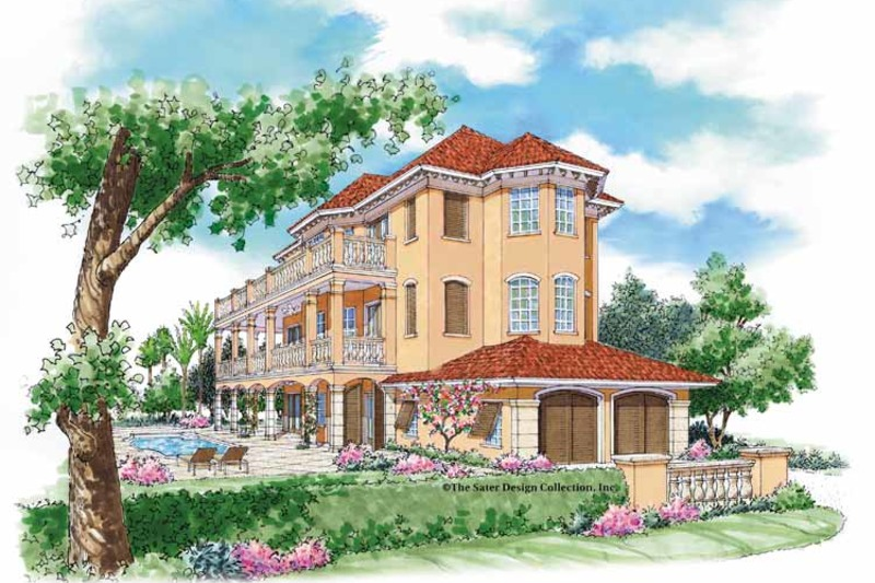 Country Exterior - Front Elevation Plan #930-79