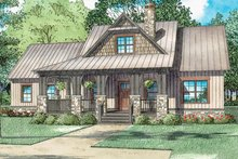 Country Exterior - Front Elevation Plan #17-3406