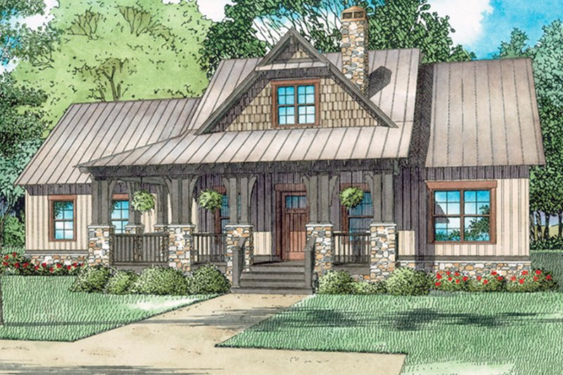House Design - Country Exterior - Front Elevation Plan #17-3406