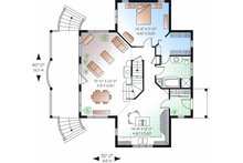 Country Floor Plan - Main Floor Plan Plan #23-757