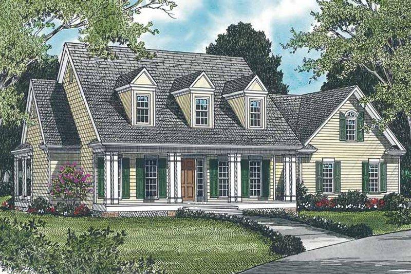 Classical Exterior - Front Elevation Plan #453-121 - Houseplans.com
