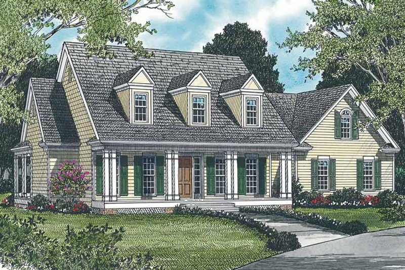 Classical Exterior - Front Elevation Plan #453-121