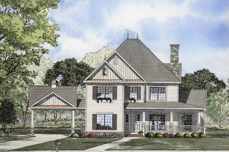 Architectural House Design - Classical Exterior - Front Elevation Plan #17-2855