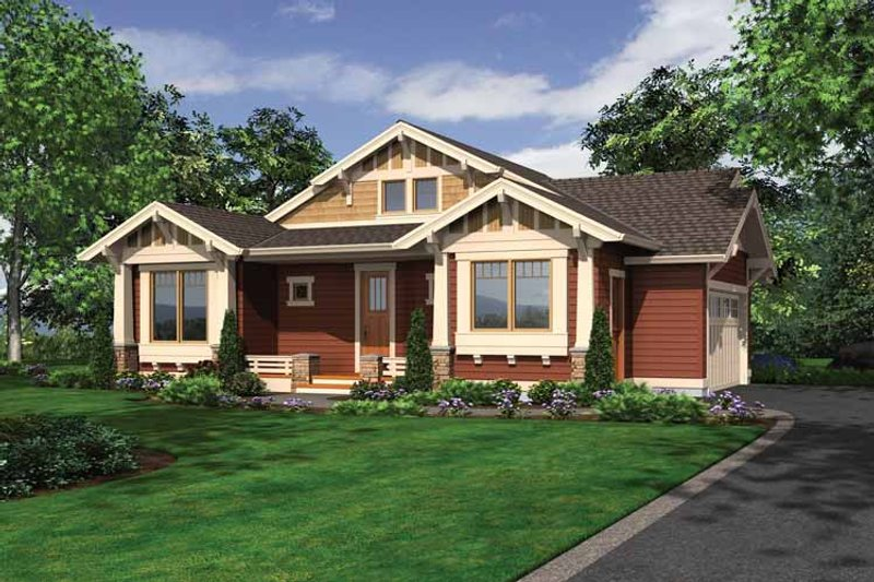 Dream House Plan - Craftsman Exterior - Front Elevation Plan #132-532