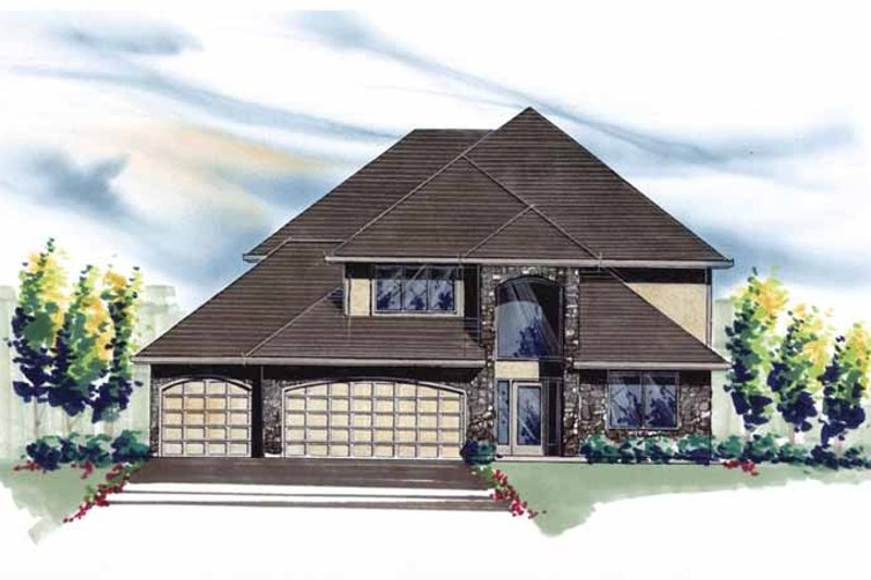 Traditional Exterior - Front Elevation Plan #509-346 - Houseplans.com