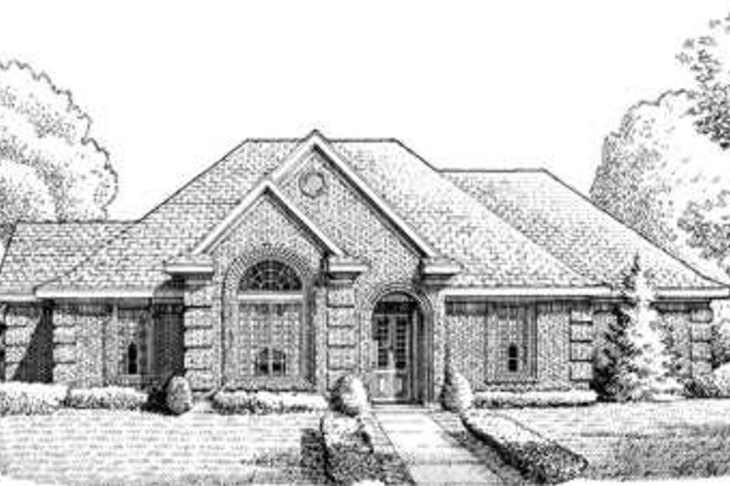 European Exterior - Front Elevation Plan #410-378