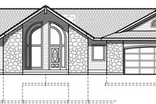 European Exterior - Front Elevation Plan #1037-39
