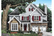 Colonial Exterior - Front Elevation Plan #927-919