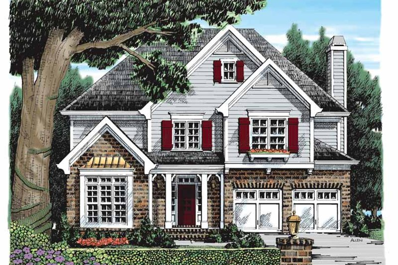 Colonial Exterior - Front Elevation Plan #927-919 - Houseplans.com