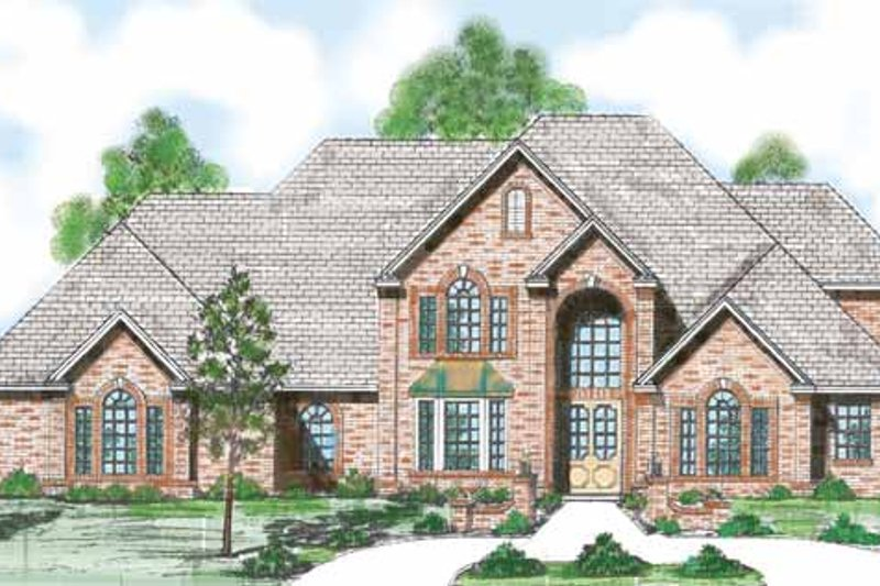 Architectural House Design - Traditional Exterior - Front Elevation Plan #52-280