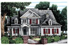 House Plan Design - Colonial Exterior - Front Elevation Plan #927-852