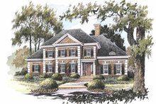 House Plan Design - Colonial Exterior - Front Elevation Plan #429-211