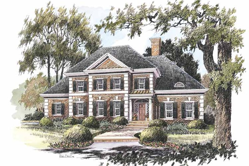 Home Plan Design - Colonial Exterior - Front Elevation Plan #429-211
