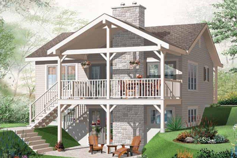 Craftsman Exterior - Rear Elevation Plan #23-2462 - Houseplans.com