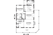 Cottage Style House Plan - 3 Beds 2.5 Baths 1915 Sq/Ft Plan #48-572 Floor Plan - Main Floor Plan