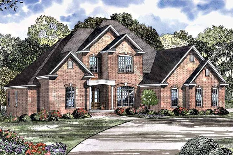 Traditional Exterior - Front Elevation Plan #17-3009 - Houseplans.com