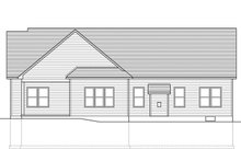 Ranch Exterior - Rear Elevation Plan #1010-202