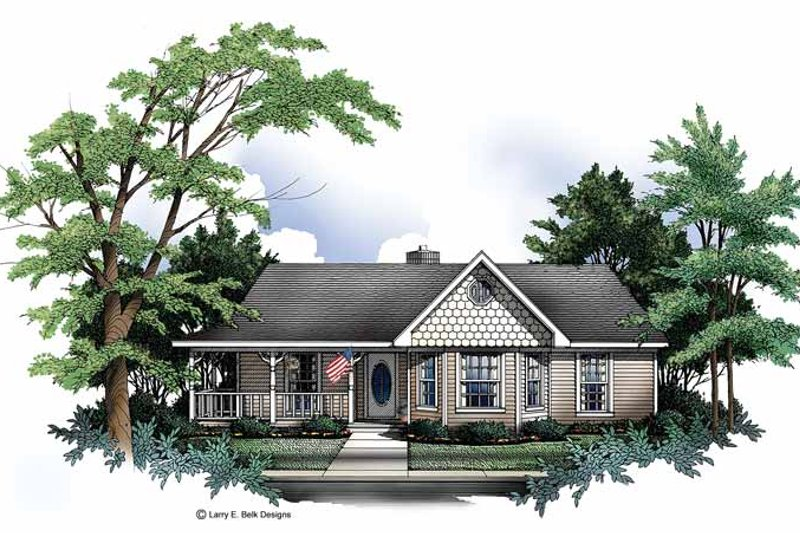 Ranch Exterior - Front Elevation Plan #952-157