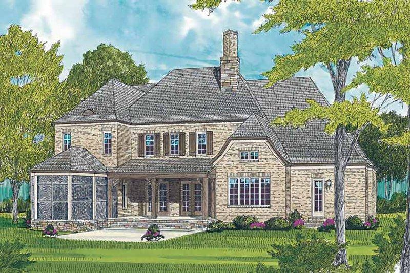Country Exterior - Rear Elevation Plan #453-465 - Houseplans.com