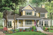 Country Exterior - Front Elevation Plan #23-2349