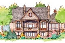 House Plan Design - European Exterior - Rear Elevation Plan #929-901