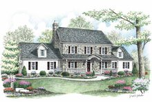Country Exterior - Front Elevation Plan #1002-7