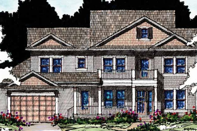Country Exterior - Front Elevation Plan #1007-58