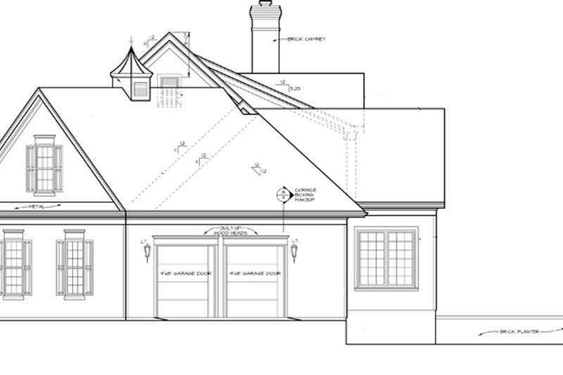 Classical Exterior - Other Elevation Plan #453-332 - Houseplans.com
