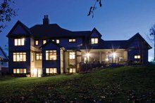 House Plan Design - European Exterior - Rear Elevation Plan #928-180