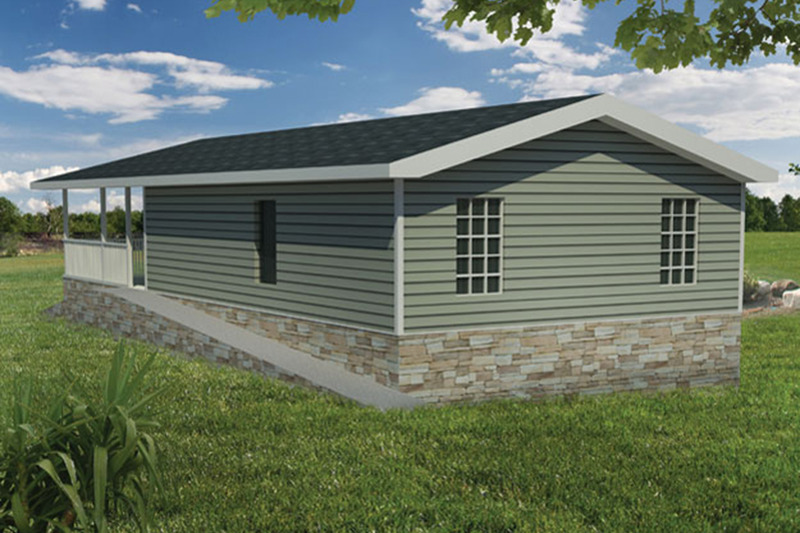 Cabin Exterior - Front Elevation Plan #1061-25 - Houseplans.com