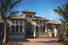 Architectural House Design - Mediterranean Exterior - Front Elevation Plan #930-92