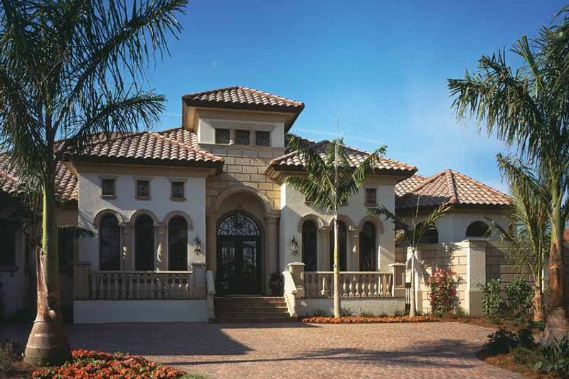 Mediterranean Exterior - Front Elevation Plan #930-92 - Houseplans.com