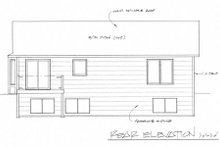 Dream House Plan - Traditional Exterior - Rear Elevation Plan #58-201