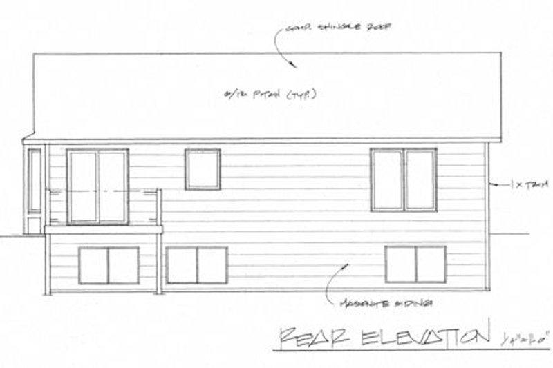 Traditional Exterior - Rear Elevation Plan #58-201 - Houseplans.com