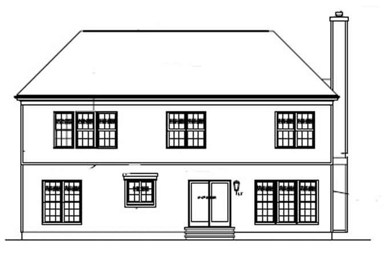 Colonial Exterior - Rear Elevation Plan #453-341 - Houseplans.com