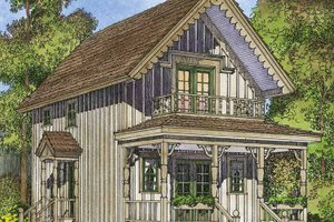 Home Plan - Country Exterior - Front Elevation Plan #1016-91
