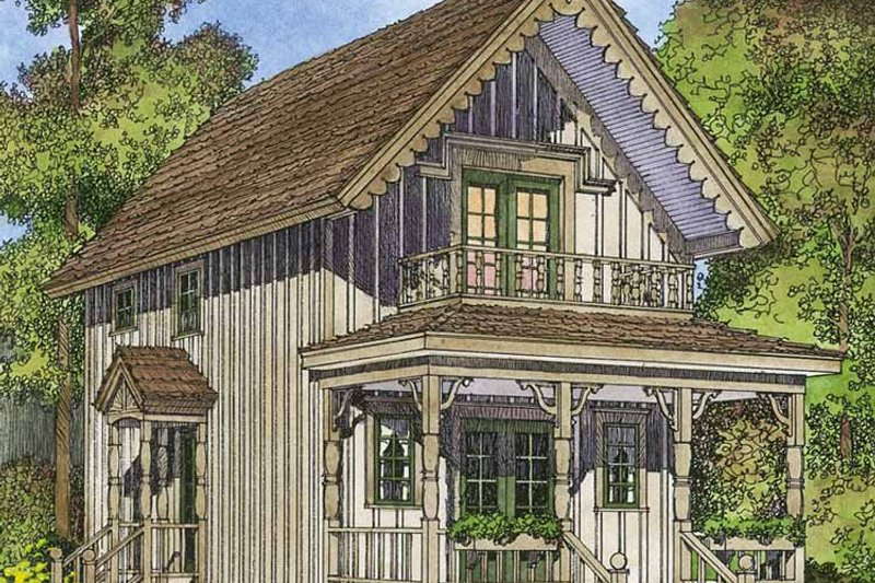 Country Exterior - Front Elevation Plan #1016-91