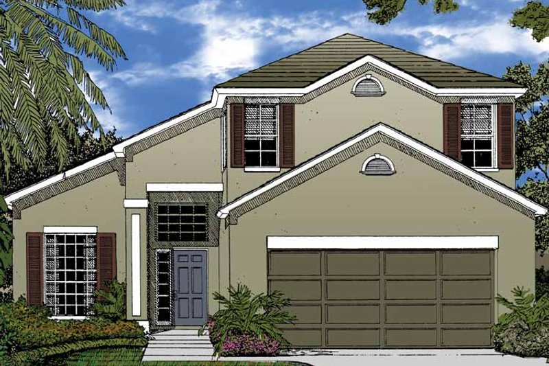 Country Exterior - Front Elevation Plan #1015-44 - Houseplans.com