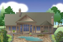 European Exterior - Rear Elevation Plan #929-984